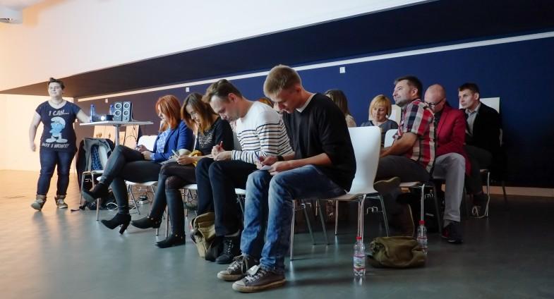 Szczecin 07.10.2014 Trafostacja sztuki, warsztaty ze znanymi blogerami, Szczecin aloud Fot. Dariusz Gorajski