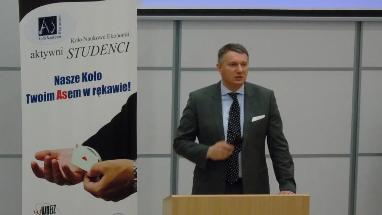 Przemysław Wipler na Wydziale Nauk Ekonomicznych i Zarządzania w Szczecinie