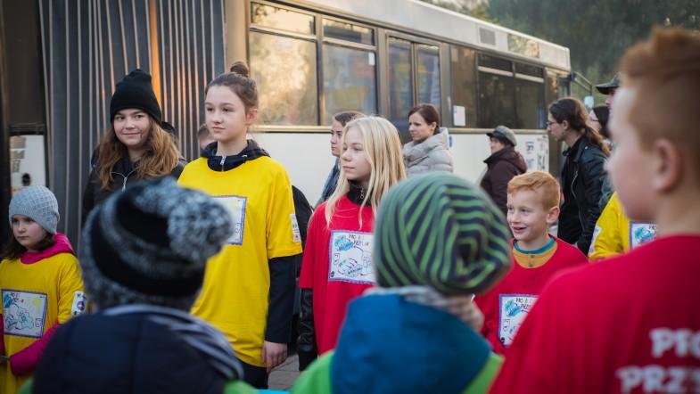 Happening na przystankach i w autobusie
