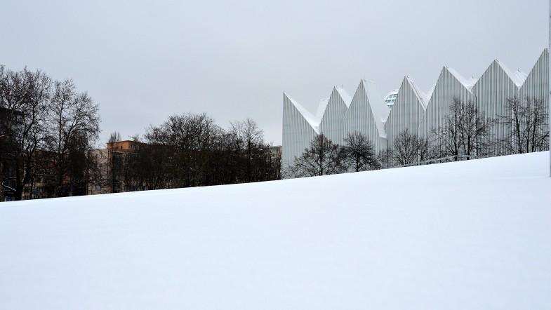 Góra lodowa  w centrum Szczecina